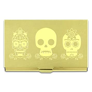 Frida Kahlo Etched Business Card Cases By Acme Studio (THREE SKULLS) by ACME Studio: Amazon.es: Oficina y papelería