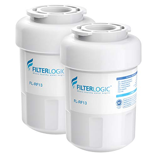 FilterLogic MWF Refrigerator Water Filter, Replacement for GE SmartWater MWFP, MWFA, GWF, HDX FMG-1, WFC1201, GSE25GSHECSS, PC75009, RWF1060, 197D6321P006, Kenmore 9991 (Pack of 2)
