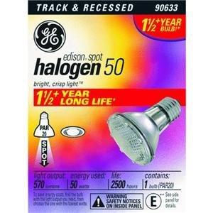 GE 14927 Edison PAR20 Halogen Bulb, (25 Range)