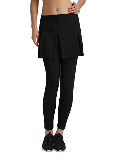 d1d9838159 Jessie Kidden Women's Anytime Casual Athletic Stretch Skort Skirt with  Leggings and Pocket for Running Tennis Golf Workout at Amazon Women's  Clothing store: