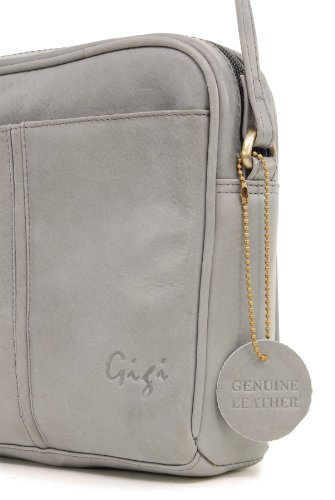 GIGI - OTH22-29 - Bolso bandolera / Bolso de hombro - Cuero - Pequeño Gris claro