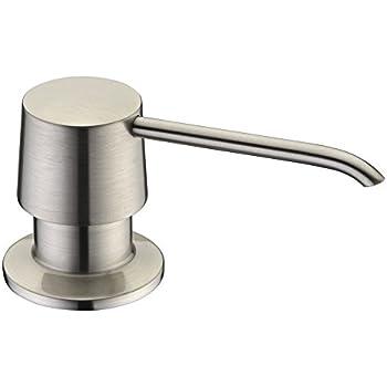 Brass Sink Soap Dispenser Pump Brushed Nickel Delle Rosa Brass Head Kitchen Sink  Soap Dispenser Soap