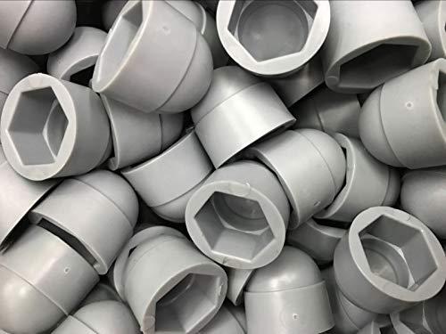 Nuts M5 M6 M8 M10 M12 M14 M16 M18 M20 Grey Steel Nut hex Bolt Cover Cap Plastic pp Protector Corrosion dust Proof Drive Hole Plug - (Size: M14X21 200 pcs, Color: Grey)