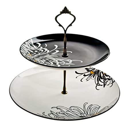 Denby 28.5 cm Monsoon Chrysanthemum Cake Stand Black  sc 1 st  Amazon UK & Denby 28.5 cm Monsoon Chrysanthemum Cake Stand Black: Amazon.co.uk ...