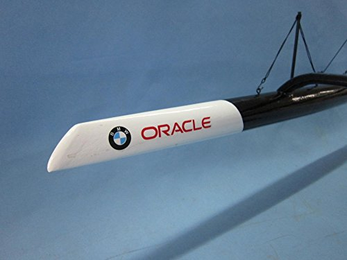 Handcrafted Model Ships BMW Trimaran 30'' - Decorative Sailing Boat - Americas Cup Racing Yacht - Nautic