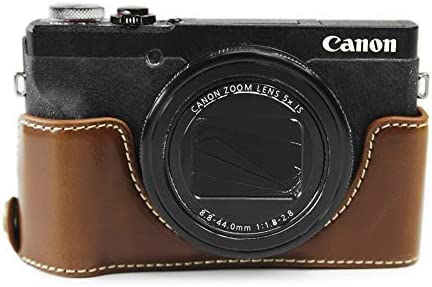 Kinokoo Schutzhülle Für Canon Powershot G5x Mark Ii Pu Leder Braun Elektronik