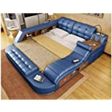 All in one leather double bed with speakers - All in one double bed ...