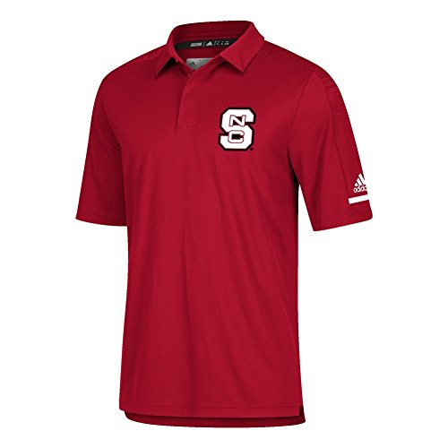 - adidas NCSU NC State Wolfpack Men's Polo Coaches Short Sleeve (Large)