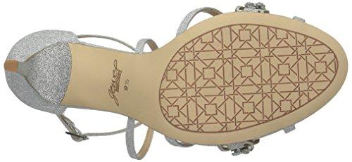 Badgley Mischka Gisele Women's Silver Sandal Heeled S1rSxq4Zw
