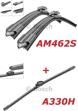 Bosch Limpiaparabrisas Frontal.traseros y borrador – Aerotwin AM462S longitudes: 600/475 mm