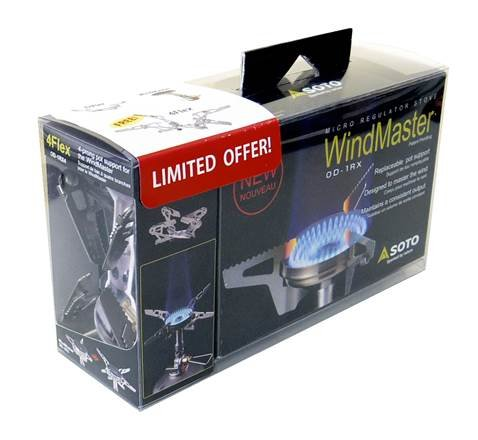 SOTO Outdoors - WindMaster Premium Backpacking Stove with 4Flex Pot Stabilizer