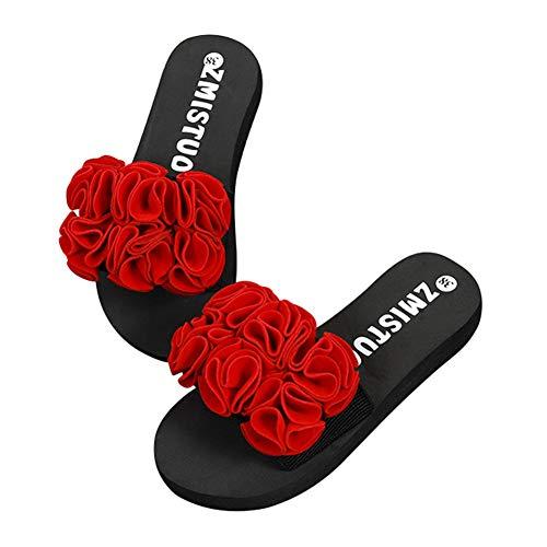 LQZ Women Summer Sandals Indoor Outdoor Flower Slippers