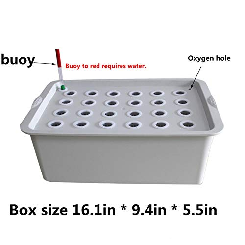 24Holes Hydroponics Grower Kit,Propagation, and Hydroponic Experiment Indoor Outdoor (Gray) by FLOURITHING (Image #6)