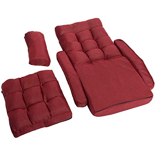 Merax Folding Lazy Sofa Floor Chair Sofa Lounger Bed With