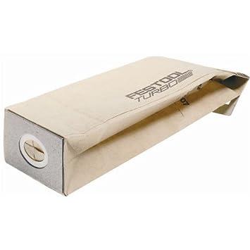 Festool 487871 - Tf ii-rs/es/et25 turbo bolsa de filtro (paquete de 25): Amazon.es: Bricolaje y herramientas