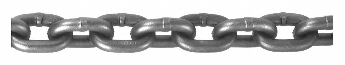 5 ft. Grade 100 Straight Chain, 3/8'' Trade Size, 8800 lb. Working Load Limit, For Lifting: Yes
