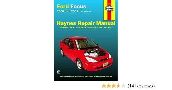 amazon com haynes repair manual ford mercury focus 2000 thru 2007 rh amazon com Chilton Repair Manuals PDF Auto Repair Manuals Online