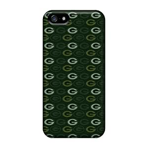 MarcClements Apple Iphone 5/5s Shock-Absorbing Hard Phone Covers Allow Personal Design Trendy Green Bay Packers Pattern [SYj22625zKZU]