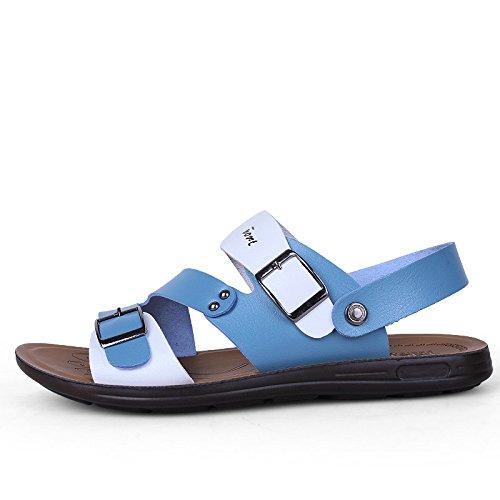 Xing Lin Sandalias De Hombre Zapatos De Verano En La Playa Los Hombres Calzado Casual Sandalias Open Toe Sandalias De Playa Y Zapatillas Casual Hebilla Calzado De Playa blue