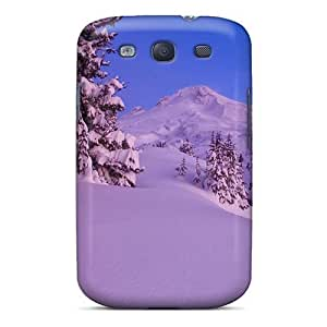 Excellent For SamSung Galaxy S3 Case Cover Hard Back Skin Protector Mt Hood Oregon Under A Moon