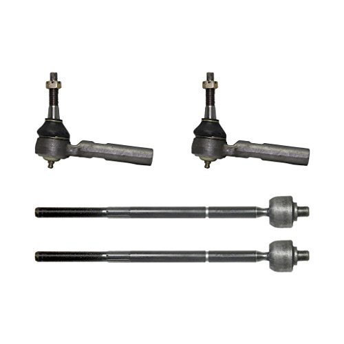 pc Kit - All (4) Front Inner & Outer Tie Rod Ends for Chrysler & Dodge Mini-Van's 10-Year Warranty (Dodge Grand Caravan Minivan)