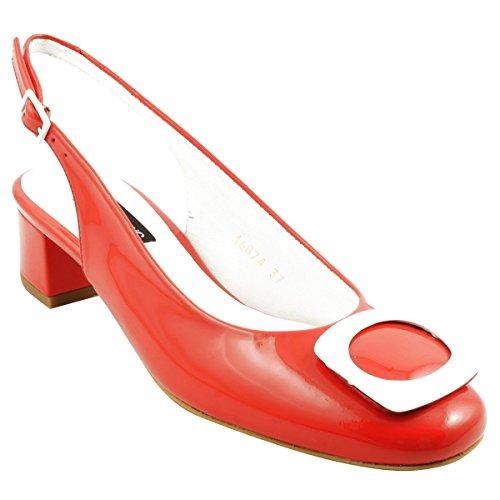 Rojo Exclusif Vestir para Paris de Zapatos Mujer rwSTOYwq