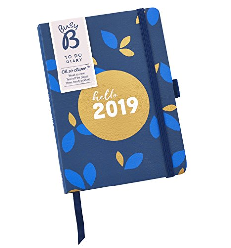 Busy B 8069 2019 Pretty to Do Diary with Tear-Out to Do Lists/Gold Foil Design