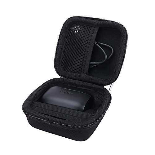 Hard Case for the Jabra Elite Active 65t | Jabra Elite 65t True Wireless Earphone/Headphone by Aenllosi (black)