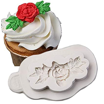 1 piece Rose Cupcake Silicone Mould Flower Cake Silicone Mold Confeitaria Fondant Cake Decorating Molds Candies