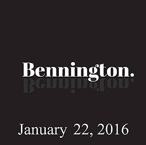 Bennington, January 22, 2016 Radio/TV Program