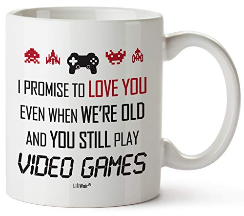 Valentines Day Gifts For Boyfriend From Girlfriend, For Him Husband Fiance Love Men Couples Best Anniversary Birthday Present For Video Gamers, Cute Funny Cool Gaming Mug Gift for a Nerd Geek Friend