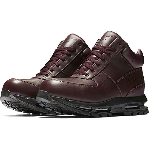 NIKE Air Max Goadome Mens Lifestyle Leather Boots Deep Burgundy/Black, 10