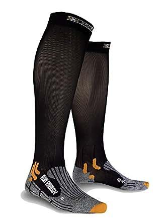 X-Socks Run Energizer - Calcetines de running, tamaño 35-38, color negro