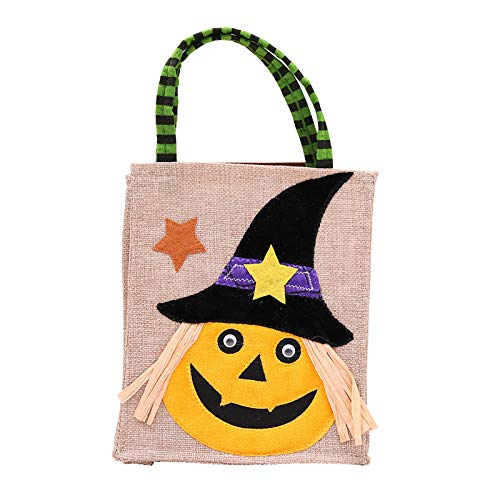 (Halloween Trick or Treat Bags - Reusable Candy Totes, Party Favor Bag for Kids Boy Girl (A))