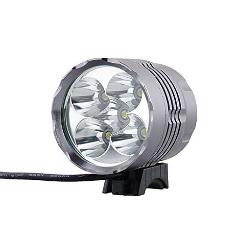 Anding - Faro LED para bicicleta (impermeable, con 4 pilas ...