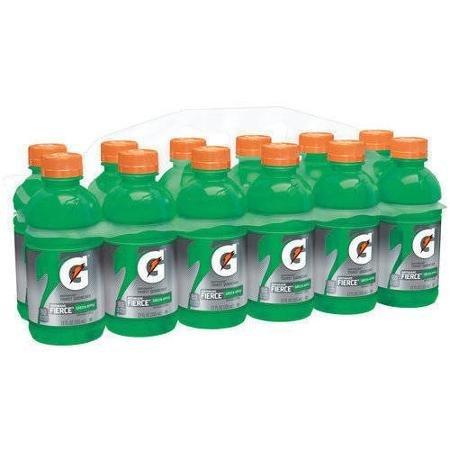 Gatorade G Series Fierce Green Apple Sports Drinks, 12 fl oz, 12 pack (Case of 2)