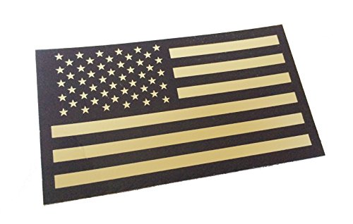 Black and Tan Us Ir Infrared USA Flag Military Morale Reflec