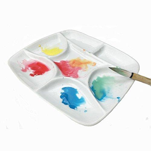 ATWORTH 絵の具パレット 水彩パレット 絵皿 陶器 (7格)