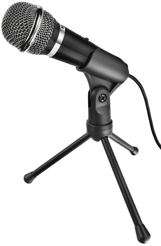 Trust Starzz Microphone for PC and Laptop (Includes Tripod) - 3.5 mm microphone connection