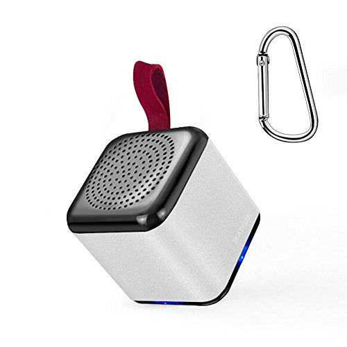 SEATIGER Mini Bluetooth Speaker Tiny Body Loud Voice Wireless Speaker with Enhanced Bass for Home Outdoor Travel,Rechargable (Silver) by SEATIGER