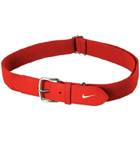 (Nike Youth Baseball Belt,OSFM(Cardinal Red/White))