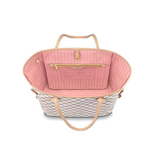 HPASS Neverfull Style Designer Woman Organizer Handbag Damier Tote Shoulder Fashion Bag Medium Size