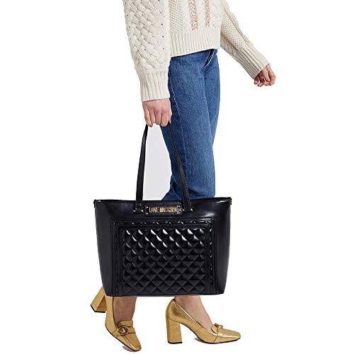 Donna Love Trapuntata Nero Moschino Shopping Borsa pIvSrwRqI