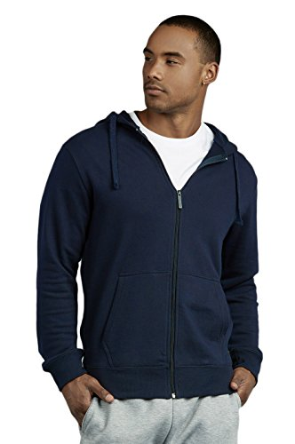 Men's Terry Fabric Cotton Zip up Hoodie Jacket (L, (Terry Cotton Hoodie Jacket)