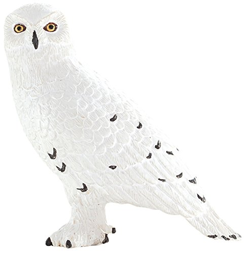 MOJO Fun 387201 Snowy Owl - Realistic International Bird of Prey Toy - International Owl