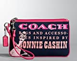 Coach Bonnie Girly Graphic Large Wristlet Bag Case Purse 42582 Navy Pink, Bags Central