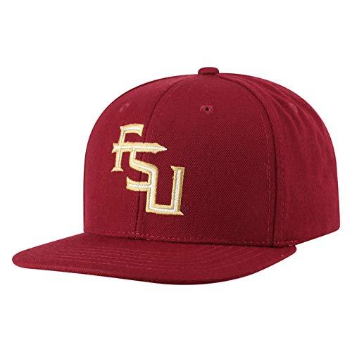 Top of the World NCAA Florida State Seminoles Men's Flat Brim Snap Back Team Icon Hat, Garnet