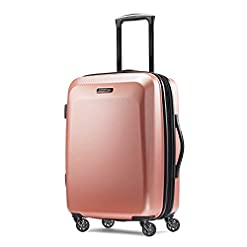 WMB Travel Pro 41n4D%2BULF9L._SS247_ American Tourister Moonlight Hardside Expandable Luggage with Spinner Wheels, Rose Gold, Carry-On 21-Inch