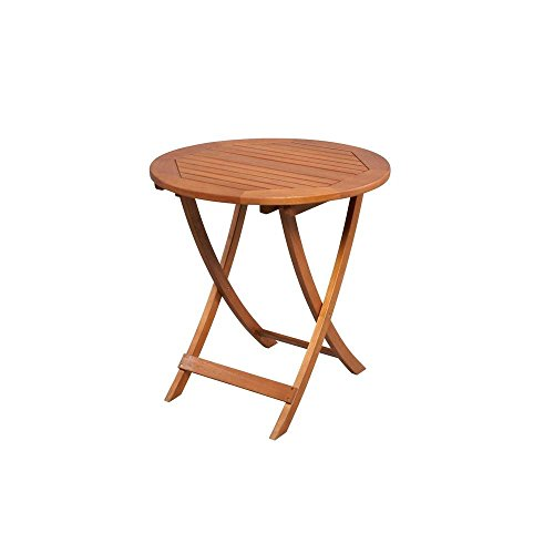 Adelaide Eucalyptus 27 in. Round Folding Patio Bistro Table