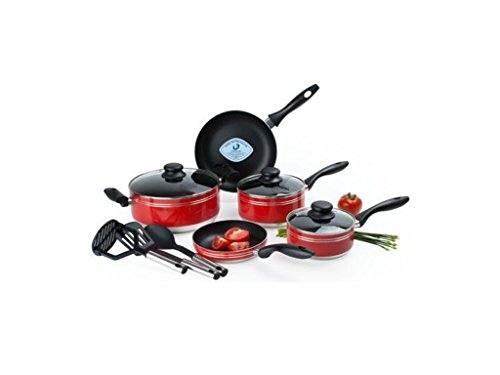 electric wok nonstick red - 6